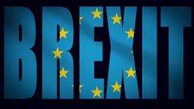 Η πολιτική φλόγα λογότυπων τίτλου Brexit γέμισε το κείμενο για την έξοδο Britains από την Ευρωπαϊκή Ένωση διανυσματική απεικόνιση