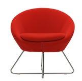 η πολυθρόνα απομόνωσε το κόκκινο Στοκ Εικόνα