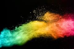 Η πολύχρωμη σκόνη Στοκ Εικόνες