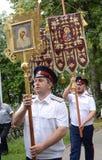 Η πομπή σε ιερό Vvedensky το θηλυκό μοναστήρι Tolgsky Στοκ φωτογραφία με δικαίωμα ελεύθερης χρήσης