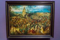Η πομπή σε Calvary 1564 από το Pieter Brueghel ο παλαιότερος μέσα Στοκ Εικόνες