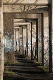 Η πορεία γκράφιτι Στοκ εικόνα με δικαίωμα ελεύθερης χρήσης