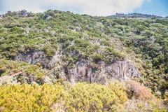 Η πορεία των μικρών φρουρίων σε Anacapri στο νησί Capri, Ιταλία στοκ εικόνες
