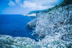Η πορεία των μικρών φρουρίων σε Anacapri στο νησί Capri, Ιταλία στοκ φωτογραφίες με δικαίωμα ελεύθερης χρήσης