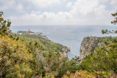 Η πορεία των μικρών φρουρίων σε Anacapri στο νησί Capri, Ιταλία στοκ φωτογραφία