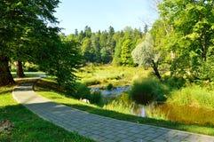 Η πορεία των πετρών κατά μήκος του ποταμού Στοκ φωτογραφία με δικαίωμα ελεύθερης χρήσης