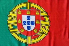 Η πορτογαλική εικόνα σημαιών ακόμα βλέπει άνωθεν Στοκ Φωτογραφία
