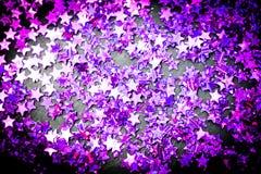 Η πορφύρα ακτινοβολεί άσπρο υπόβαθρο αστεριών με το διάστημα αντιγράφων Στοκ φωτογραφίες με δικαίωμα ελεύθερης χρήσης
