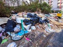 Η ποσότητα στερεών αποβλήτων στη μητρόπολη της Μπανγκόκ στοκ εικόνα με δικαίωμα ελεύθερης χρήσης