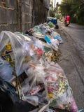 Η ποσότητα στερεών αποβλήτων στη μητρόπολη της Μπανγκόκ στοκ φωτογραφίες με δικαίωμα ελεύθερης χρήσης
