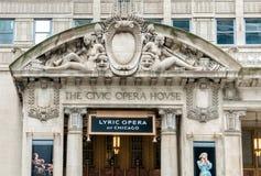 Η πολιτική Όπερα στο Σικάγο, σήμερα αυτό είναι η μόνιμη στέγη της λυρικής όπερας του Σικάγου στοκ εικόνες