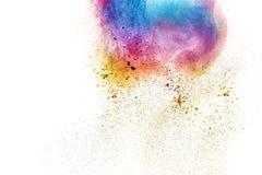 Η πολύχρωμη σκόνη Στοκ Εικόνα