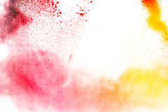 Η πολύχρωμη σκόνη Στοκ φωτογραφία με δικαίωμα ελεύθερης χρήσης