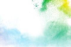 Η πολύχρωμη σκόνη Στοκ φωτογραφίες με δικαίωμα ελεύθερης χρήσης