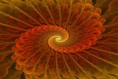 Η πολύχρωμη fractal σπείρα, στο χαρτοφυλάκιό μου είναι πολύ παρόμοιες εικόνες Στοκ Εικόνες