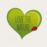 Η πράσινη έννοια, αγαπά τη φύση Στοκ Φωτογραφίες