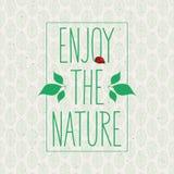 Η πράσινη έννοια, απολαμβάνει τη φύση Στοκ Εικόνες