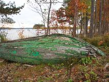 Η πράσινη βάρκα Στοκ εικόνα με δικαίωμα ελεύθερης χρήσης