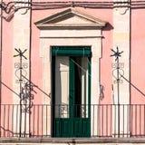 Η πράσινη πόρτα Στοκ Εικόνες