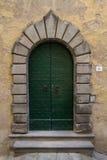 Η πράσινη πόρτα Στοκ Φωτογραφία