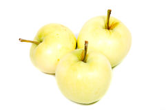 Η πράσινη Apple άσπρο στενό επάνω υποβάθρου που απομονώνεται με Στοκ φωτογραφία με δικαίωμα ελεύθερης χρήσης