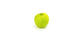 Η πραγματική οργανική πράσινη Apple που απομονώνεται Στοκ φωτογραφία με δικαίωμα ελεύθερης χρήσης