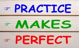 Η πρακτική κάνει τέλειος στοκ φωτογραφία με δικαίωμα ελεύθερης χρήσης