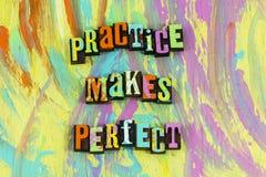 Η πρακτική κάνει τέλειος στοκ φωτογραφίες με δικαίωμα ελεύθερης χρήσης