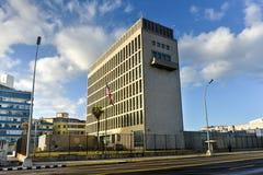 Η πρεσβεία των Ηνωμένων Πολιτειών της Αμερικής στην Αβάνα Στοκ εικόνα με δικαίωμα ελεύθερης χρήσης