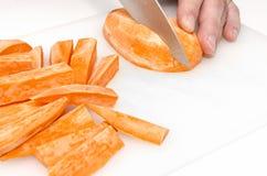 Η προετοιμασία του γλυκού potatoe πελεκά 5 στοκ φωτογραφίες με δικαίωμα ελεύθερης χρήσης