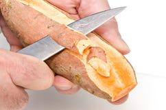 Η προετοιμασία του γλυκού potatoe πελεκά 2 στοκ φωτογραφία με δικαίωμα ελεύθερης χρήσης
