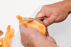Η προετοιμασία του γλυκού potatoe πελεκά 1 στοκ εικόνα με δικαίωμα ελεύθερης χρήσης