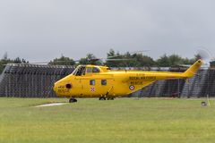 Η προηγούμενη Royal Air Force, RAF Westland WS-55-3 ελικόπτερο γ-BVGE Whirlwind RAF Waddington στοκ φωτογραφία με δικαίωμα ελεύθερης χρήσης