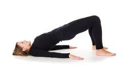 Η προθέρμανση πρωινού, το κορίτσι κάνει τις ασκήσεις Στοκ φωτογραφία με δικαίωμα ελεύθερης χρήσης