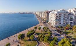 Η προκυμαία Θεσσαλονίκης, Ελλάδα Στοκ Φωτογραφία