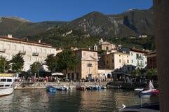 Η προκυμαία Riva Del Garda Ιταλία Στοκ Εικόνα