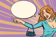 Η προκλητική γυναίκα παρουσιάζει στην πλευρά ελεύθερη απεικόνιση δικαιώματος