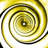 η προοπτική κινείται σπειροειδώς κίτρινος Στοκ εικόνες με δικαίωμα ελεύθερης χρήσης