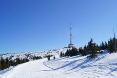 η προοπτική ο χειμώνας πύργ& στοκ εικόνες