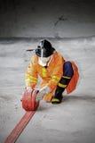 Η προσβολή του πυρός ετήσιας κατάρτισης υπαλλήλων Στοκ Φωτογραφίες