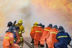 Η προσβολή του πυρός ετήσιας κατάρτισης υπαλλήλων Στοκ εικόνες με δικαίωμα ελεύθερης χρήσης