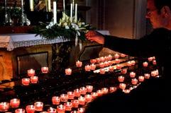 Η προσφορά, votive, προσεύχεται, πνευματικότητα Στοκ Εικόνες