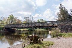 Η προσωρινή γέφυρα Pooley πέρα από τον ποταμό Eamont στοκ εικόνα με δικαίωμα ελεύθερης χρήσης