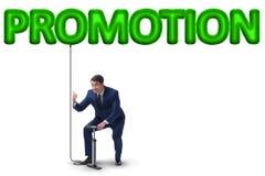Η προώθηση άντλησης επιχειρηματιών στην επιχειρησιακή έννοια στοκ εικόνες