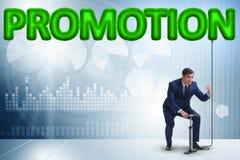 Η προώθηση άντλησης επιχειρηματιών στην επιχειρησιακή έννοια στοκ εικόνα