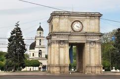 Η πρωτεύουσα της Δημοκρατίας της Μολδαβίας, Chisinau Στοκ Εικόνες