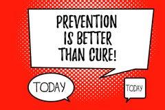 Η πρόληψη κειμένων γραψίματος λέξης είναι καλύτερη από τη θεραπεία Η επιχειρησιακή έννοια για την ασθένεια είναι αποτρέψιμη εάν π διανυσματική απεικόνιση