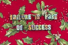 Η πρόοδος επιτυχίας αποτυχίας μαθαίνει την τυπογραφία επιλογής στοκ εικόνες