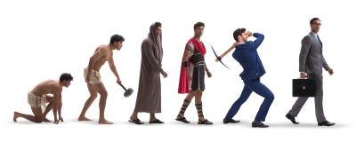 Η πρόοδος της ανθρωπότητας ατόμων από αρχαίο σε σύγχρονο στοκ εικόνες με δικαίωμα ελεύθερης χρήσης