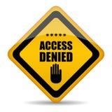 Η πρόσβαση αρνήθηκε το σημάδι απεικόνιση αποθεμάτων